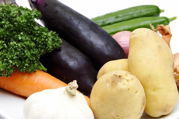 パレットの野菜