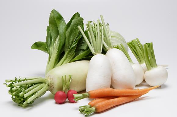 有機野菜たちへ