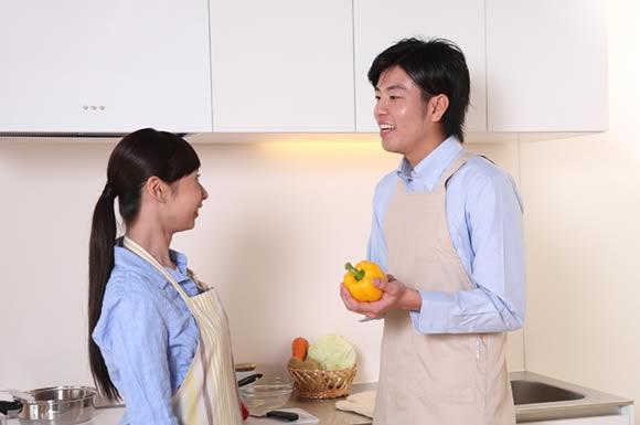 キッチンに二人
