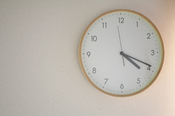配達時間を知らせる時計